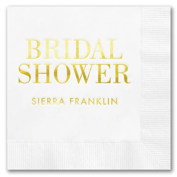 Bridal Shower Napkins Wedding Shower Napkins Shower Decorations