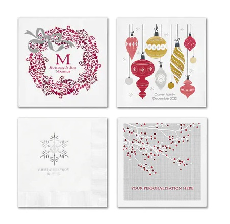 Christmas Wedding Napkins