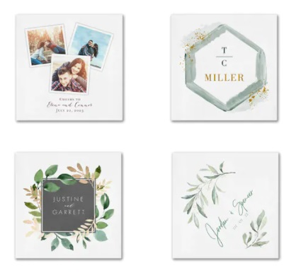 Wedding napkins personalized wedding napkins printed cocktail
