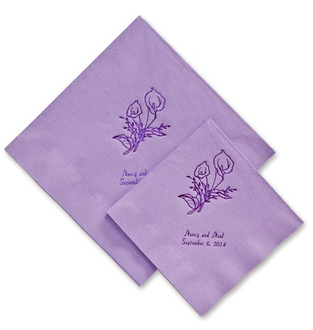 Wedding Napkins Personalized Wedding Napkin Samples Printed Napkins